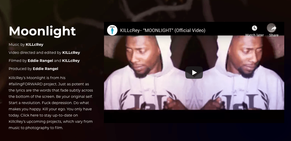 KillcRey music video Moonlight
