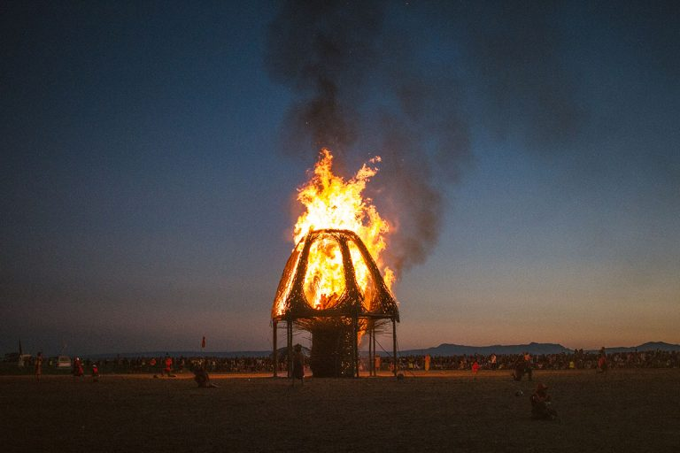 Effigy Burn dark sky and surroundings AfrikaBurn 2019 photos by Arash Afshar
