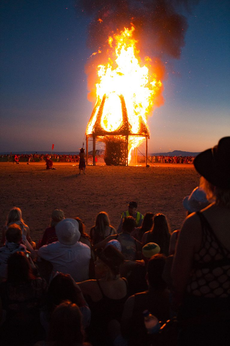 Effigy Burn at AfrikaBurn 2019 photo by Arash Afshar